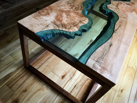 Big Leaf Epoxy Custom Coffee Table Woodify Canada