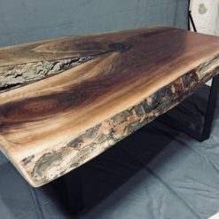 Black Walnut Live Edge Coffee Table - Reclaimed - 1 - Woodify