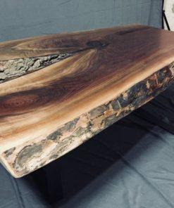 Black Walnut Live Edge Coffee Table - Reclaimed - 1 - Woodify