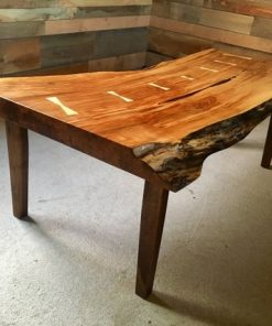 Custom Live Edge Coffee Table Black Walnut - 1 - Woodify