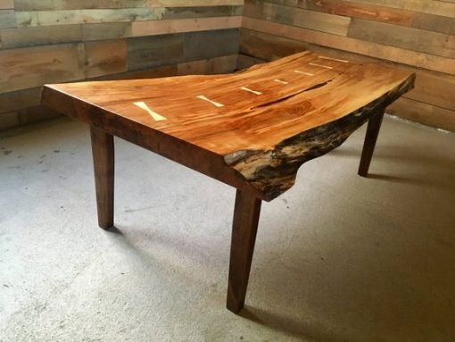 Custom Live Edge Coffee Table Black Walnut - 1 - Woodify
