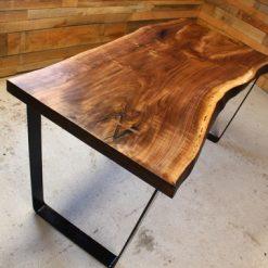 Live Edge Black Walnut Desk - 1 - Woodify
