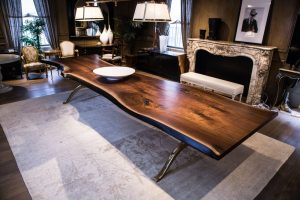 Live Edge Black Walnut Kitchen Table - Woodify