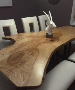 Live Edge Single Slab Reclaimed Wood Table - 1 - Woodify