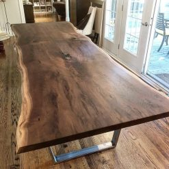 Live Edge Walnut Dining Table - 1 - Woodify