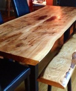 Live edge Ontario reclaimed wood dining table - 1 - Woodify