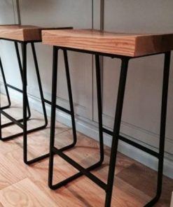 Metal & Wood Bar Stools - 1 - Woodify