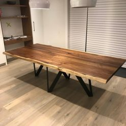 Modern Live Edge Walnut Dining Table - 1 - Woodify
