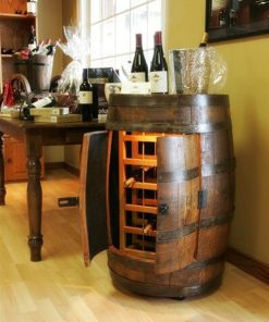 Solid Oak Wine Barrel - 18 Bottles - Woodify