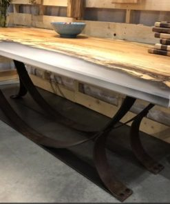 Spalted Maple Epoxy Dining Table -1 - Woodify
