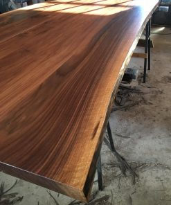 Walnut or Ash Live Edge Dining Table - 1 - woodify