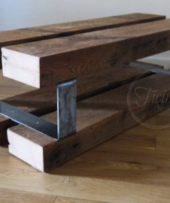 Entryway Bench Reclaimed Wood and Metal - 1 - Woodify