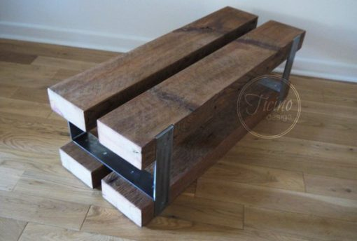 Entryway Bench Reclaimed Wood and Metal - 2 - Woodify