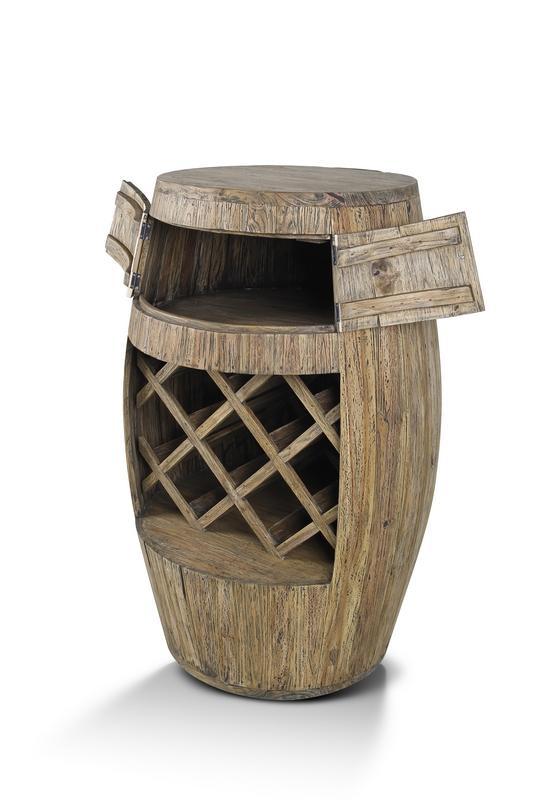 Giant Teak Wine Barrel Rack - Woodify