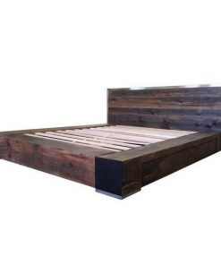 Industrial Style Barnwood Bed Frame - 2 - Woodify