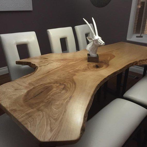 Live Edge Single Slab Reclaimed Wood Table
