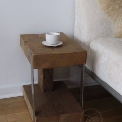 Modern Rustic End Table - 1 - Woodify