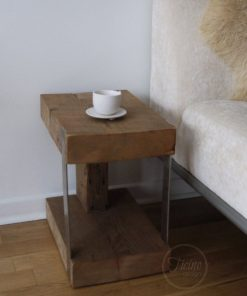 Modern Rustic End Table - 1 - Woodify