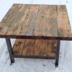 Reclaimed Wood Coffee Table with bottom shelf - 1 - Woodify