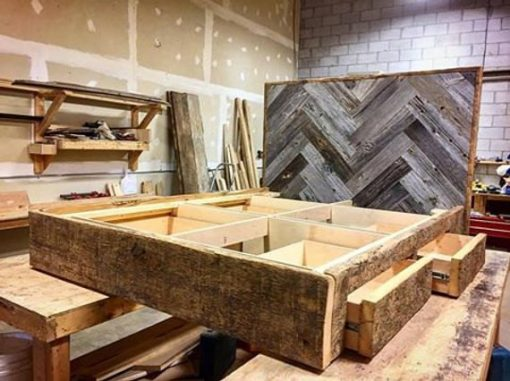 Reclaimed Wood Platform Bed - 1 - Woodify