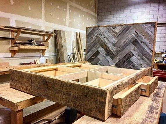 Reclaimed Wood Platform Bed - 1 - Woodify