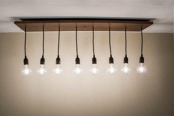 Rustic Wood Dining Chandelier Lighting Fixture