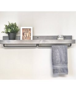 Rustic Wooden Light Walnut Shelf - 1 - Woodify
