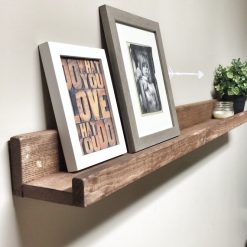 Rustic Wooden Picture Ledge Shelf - 1 - Woodify