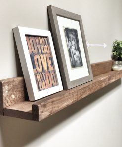 Rustic Wooden Picture Ledge Shelf - 1 - Woodify