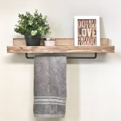 Rustic Wooden Walnut Ledge - 1 - Woodify