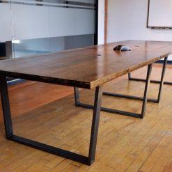 Straight Edge Wooden Boardroom Table - 1 - Woodify