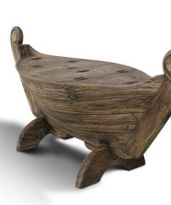 Teak Wooden Bench Boat-shaped 3 storage - 1 - Woodify
