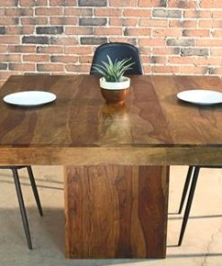 Miranda - Square Rosewood Farmhouse Table Honey Walnut Finish - Woodify