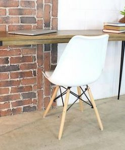 Solid Mango Wood Console Table With Industrial Metal Legs - 2 - Woodify