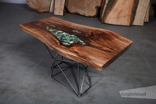 Walnut-Epoxy-Shell-Table-Geo-Base- Woodify