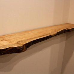 Big Leaf Maple Live Edge Floating Shelf - Woodify