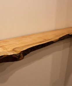 Big Leaf Maple Live Edge Floating Shelf - Woodify