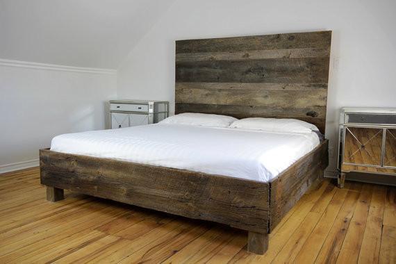Rustic Barnwood Bed Frame