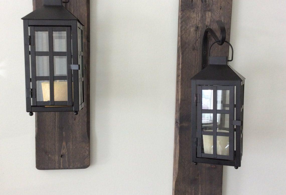 Rustic Reclaimed Wood Lanterns