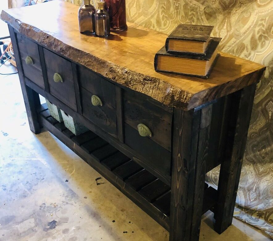 Rustic Handmade Accent Table