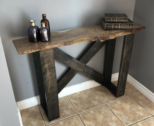 handmade hardwood accent table - 1 - Woodify