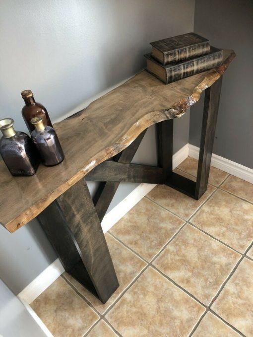 handmade hardwood accent table - 3 - Woodify