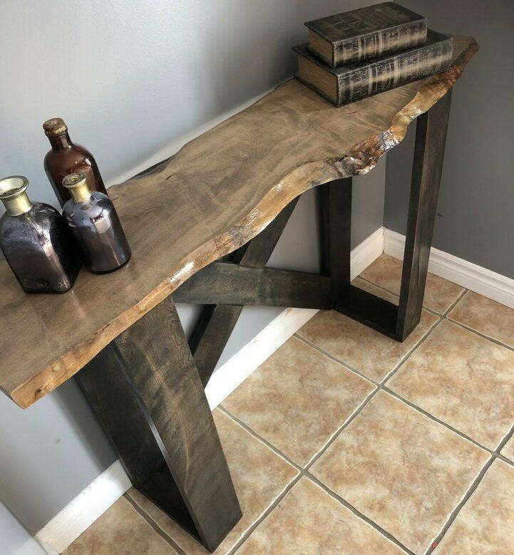 Handmade Hardwood Accent Table