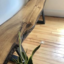Live Edge Rustic Entryway Bench - Woodify