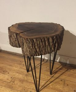 Black Walnut Stump Round Coffee Table - Woodify Canada