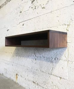 GROGG Solid Black Walnut Floating Shelf - Woodify Canada 1