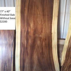 No Base Wood Slabs in Stock - Woodify Canada