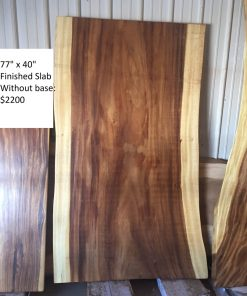 No Base Wood Slabs in Stock - Woodify Canada