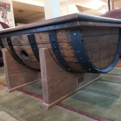 Whiskey Barrel Rustic Coffee Table - Woodify Canada