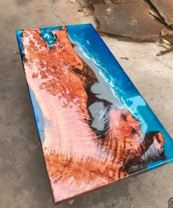 Coffee Table Epoxy River Handmade 2 - Woodify